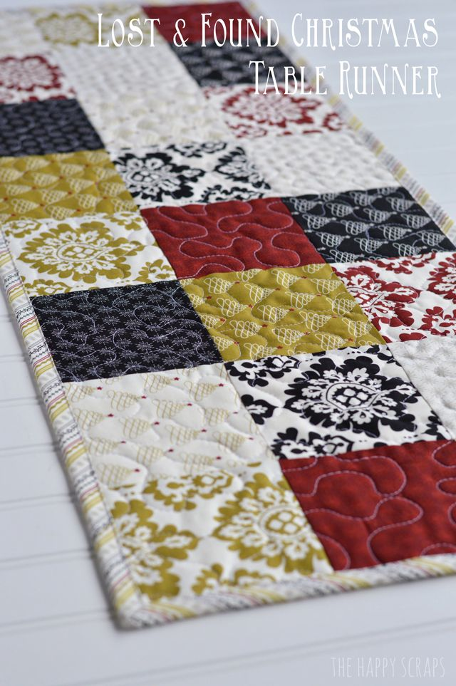 Patchwork table runner on pinterest quilted table for Easy diy table runner