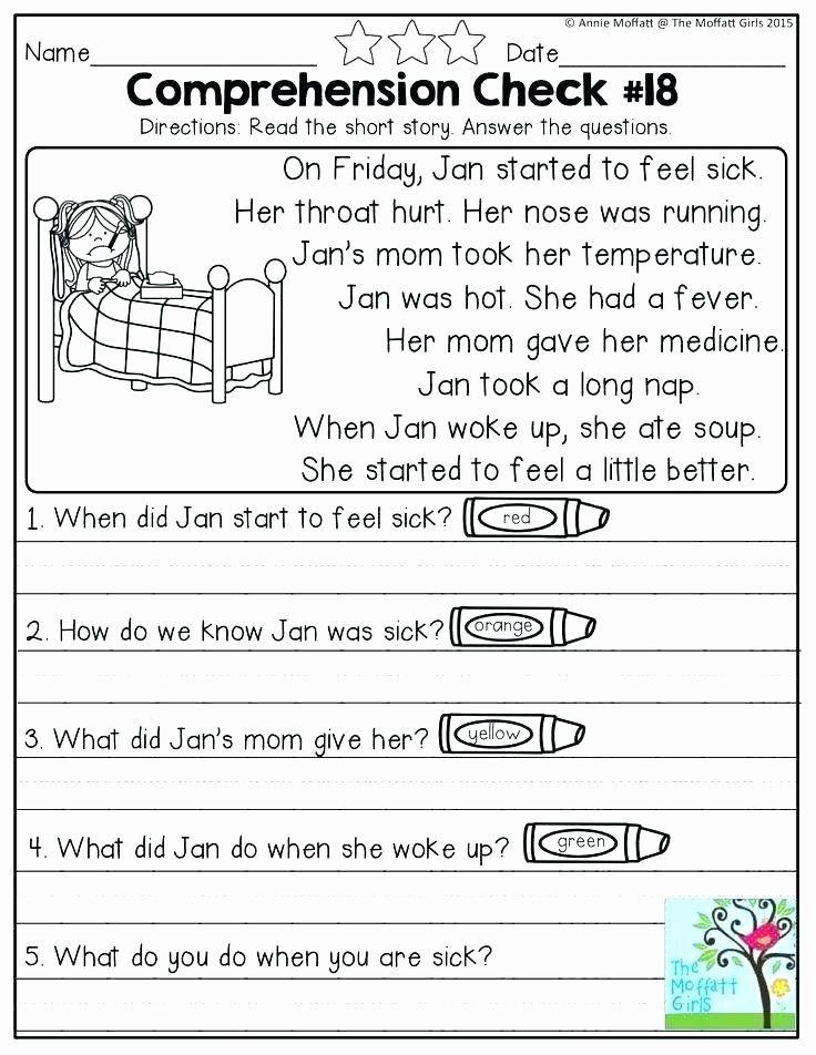 Kindergarten Reading Comprehension Worksheets Pdf Reading