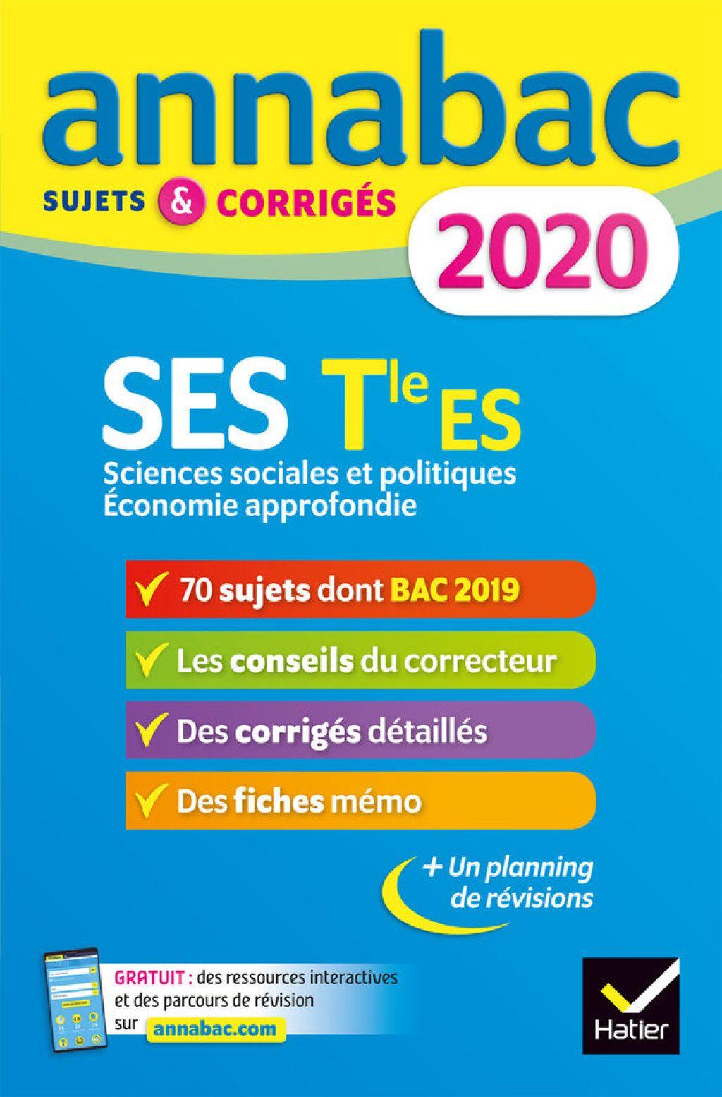 Annales Annabac 2020 Ses Tle Es Specifique Specialites Ebook En 2020 Maths Terminale S Terminale S Terminale Es