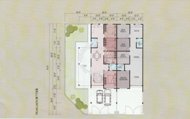 Taman Debunga Single Storey Terrace House 20 X 70 Houses New Property In Batu Gajah Perak Terrace House House Projects