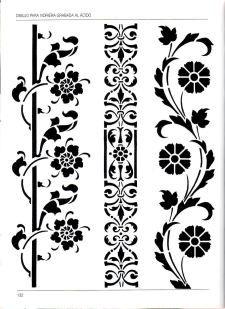 la-vidrera-artistica-132 Stencil Templates, Stencil Patterns, Stencil Designs,