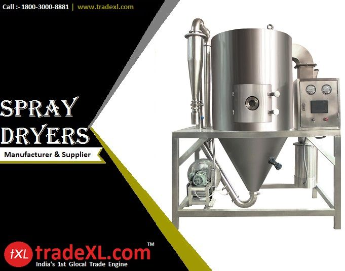Check the List of Heavy Duty & Durable Industrial Spray Dryers Manufacturers & Suppliers in India @ http://goo.gl/1zkg3X