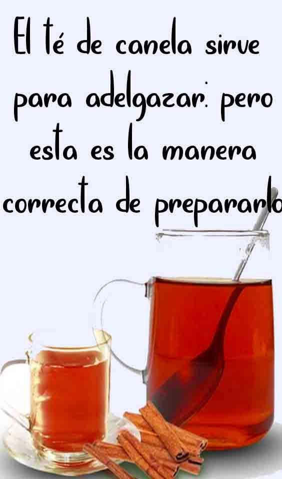 El te de canela y miel sirve para bajar de peso