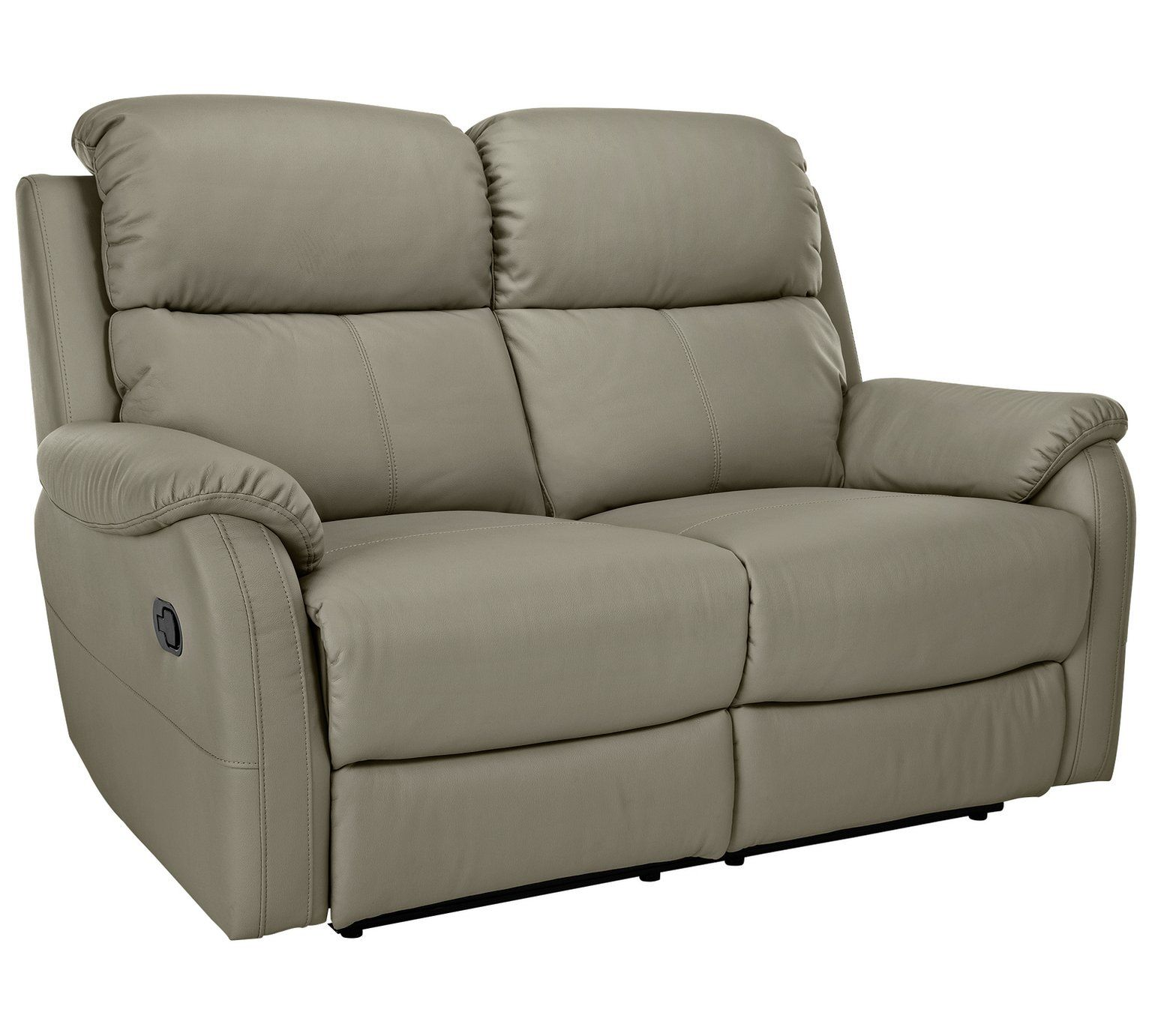 Buy HOME Tyler 2 Seater Manual Recliner Sofa Grey at