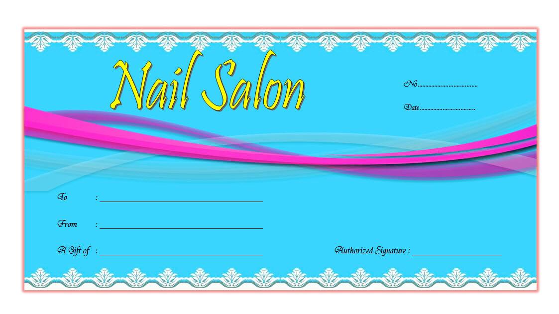 Nail Salon Gift Voucher Template FREE Printable 1; gift