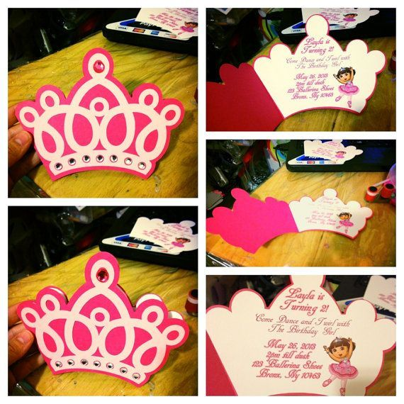 princess crown invitations Google Search Princess Party