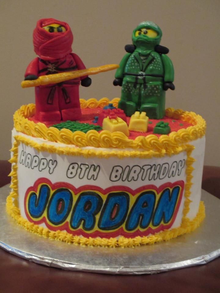 Ninjago-themed cake (more photos at www.facebook.com/simply.archita)