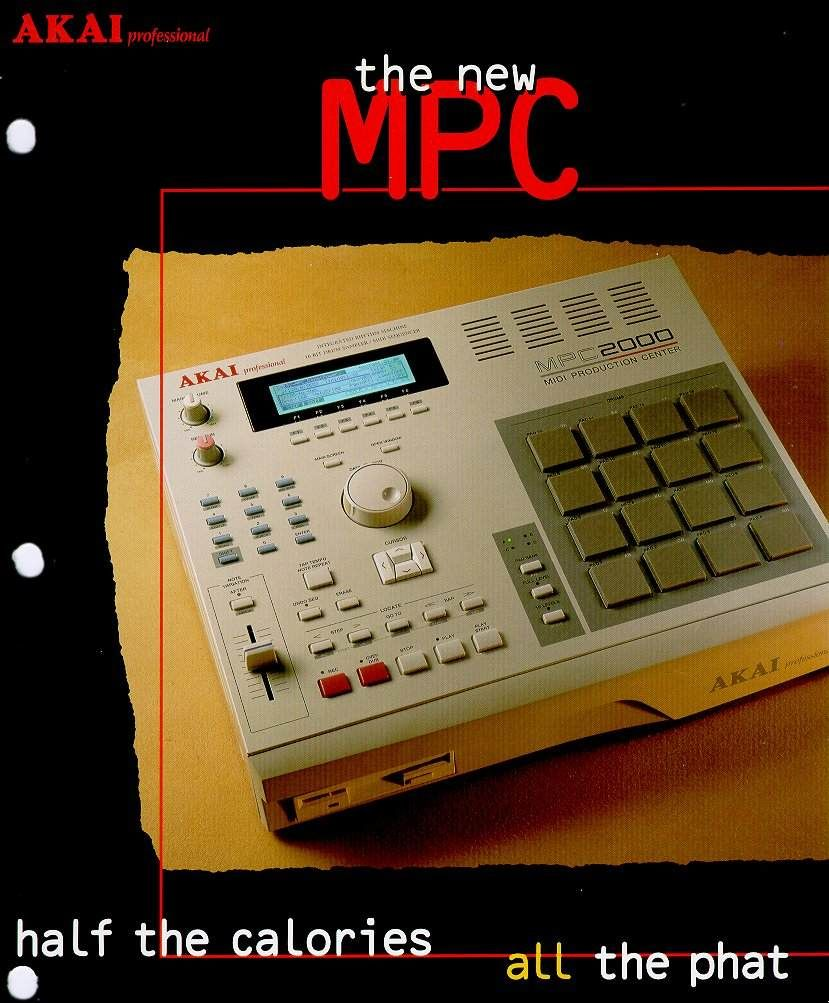 The New Mpc Half The Calories All The Phat Akai S Advertisement For The Mpc 2000 Dated 1997 Akai Historical Timeline Music Tech