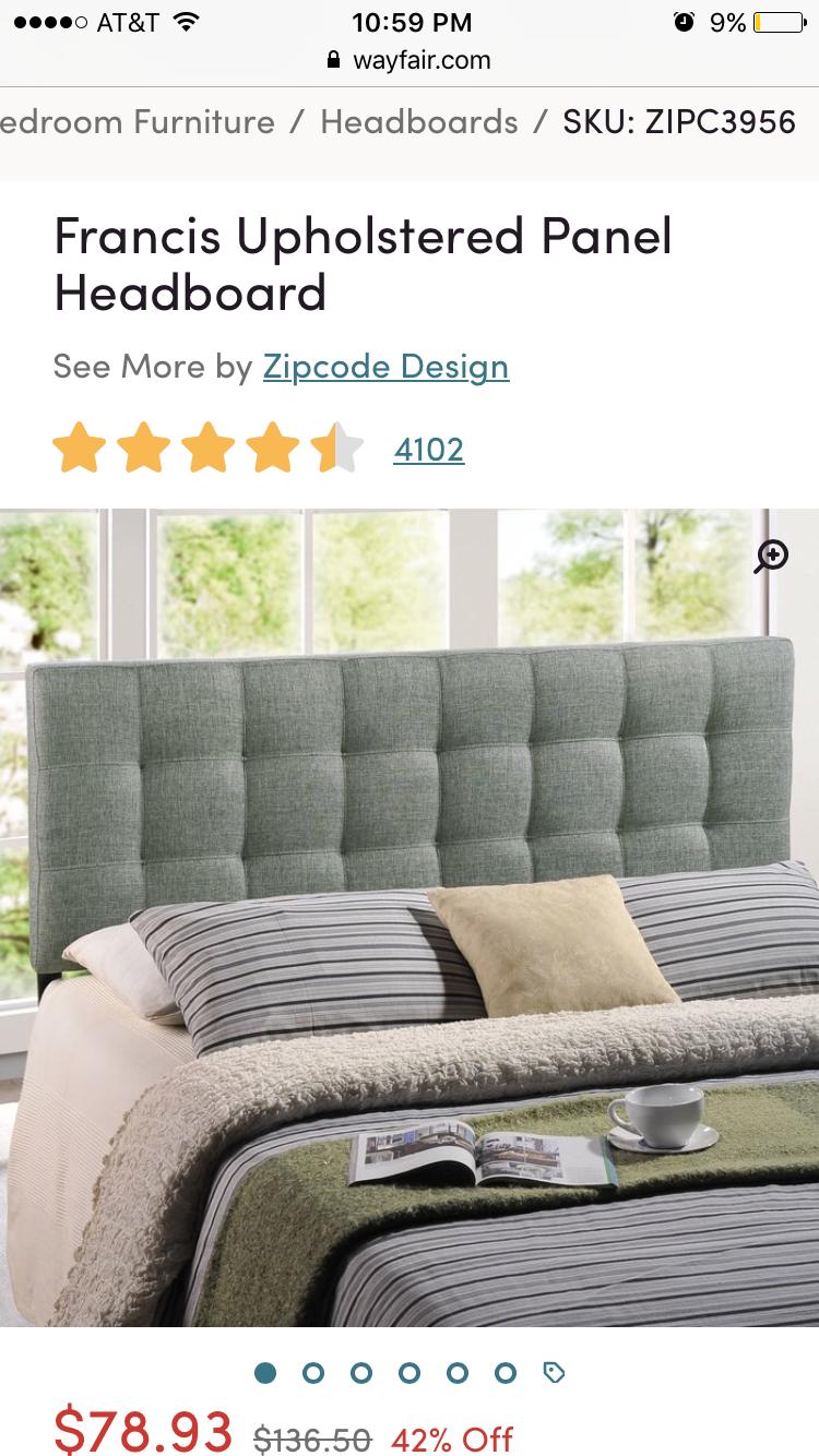 francis upholstered panel headboard on wayfair headboard upholstered panels headboard furniture pinterest