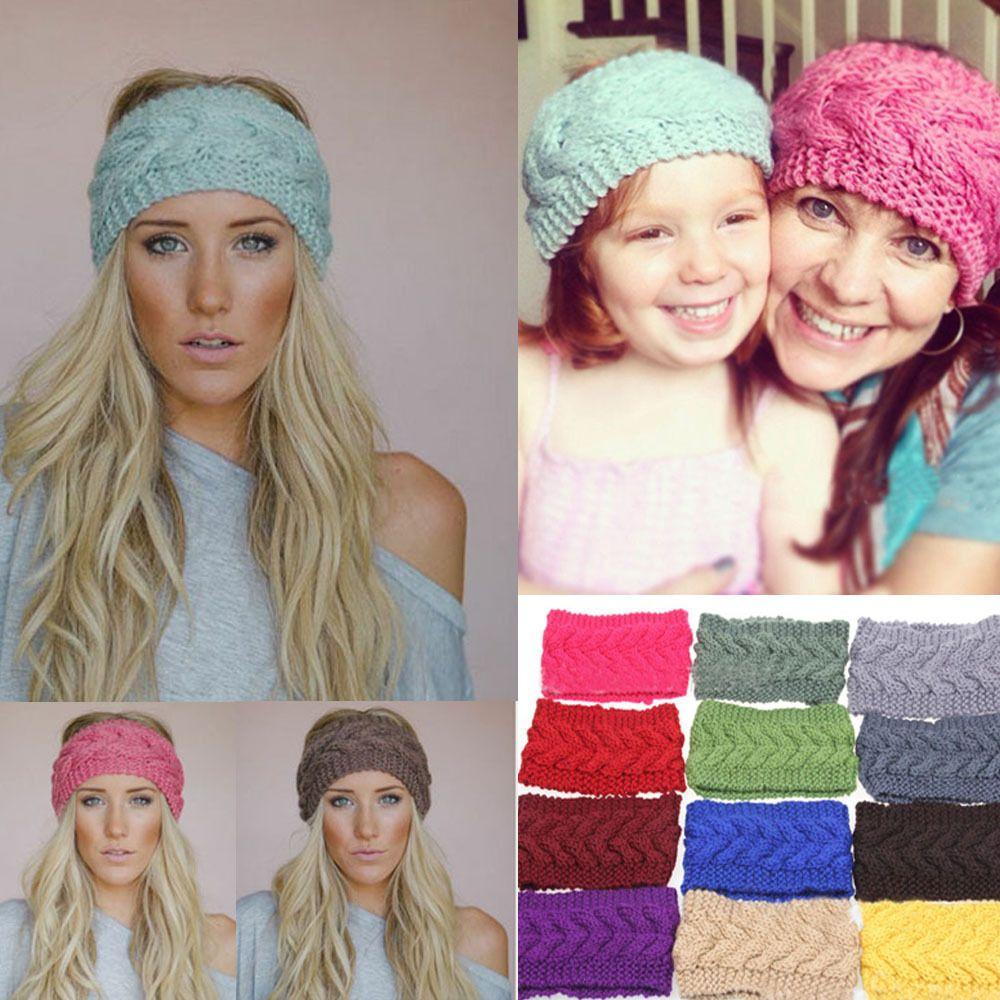 Crochet Headband Knit Flower Hairband Ear Warmer Winter Headwrap Fashion New