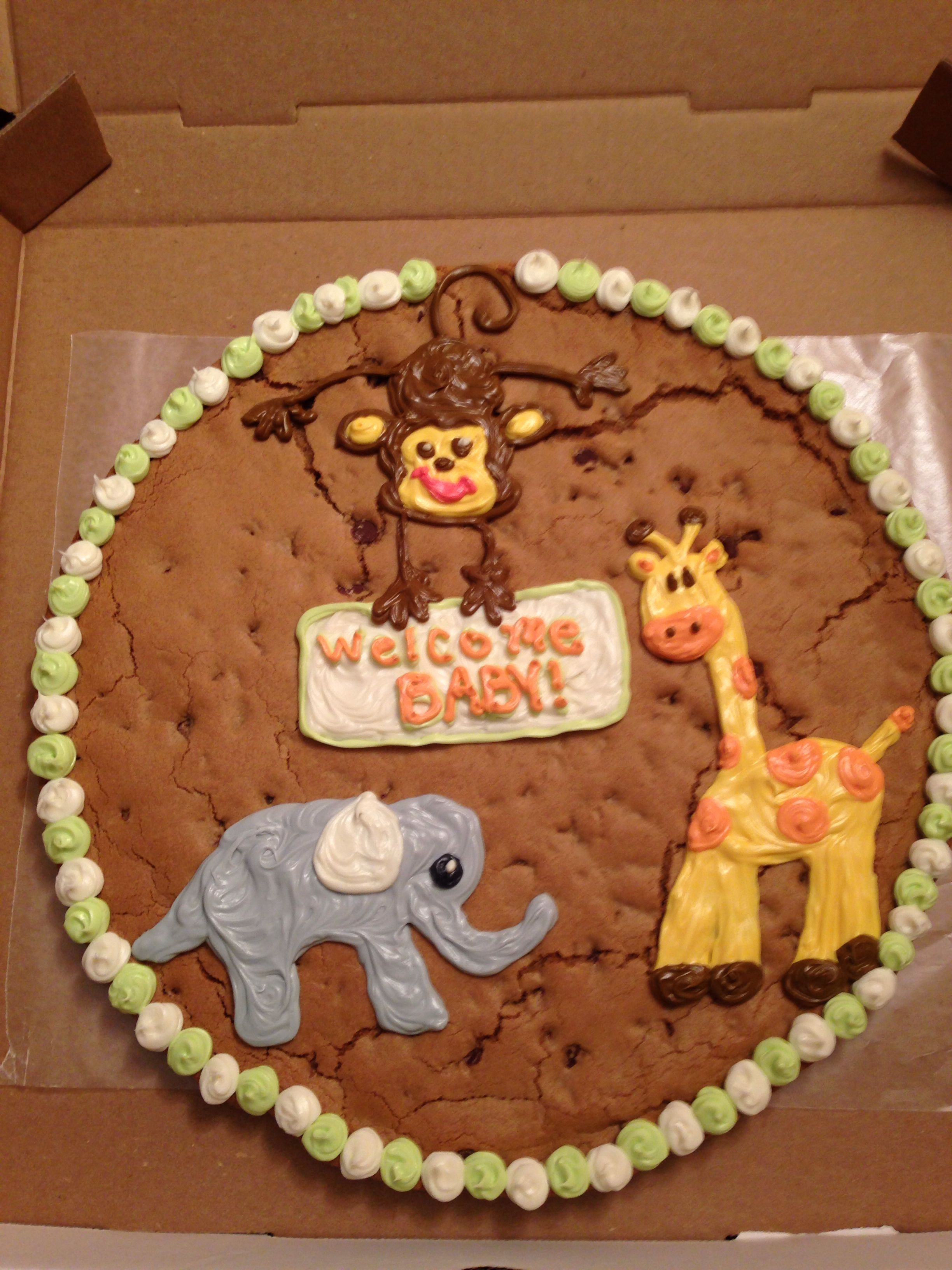Baby Shower Cookie Cake With Images Baby Shower Cookies Baby