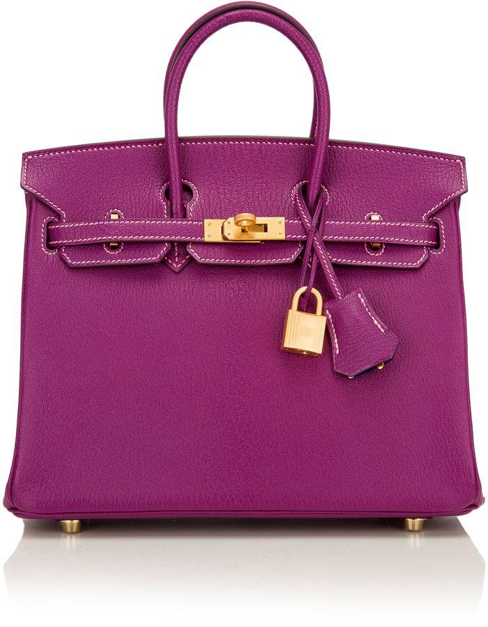 7040225e239a Madison Avenue Couture Hermes 25Cm Anemone Chevre Leather Birkin ...