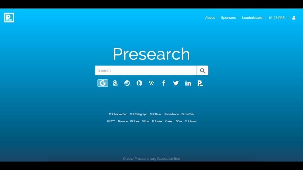 Presearch (PRE) 1token =0.00042134 LTC