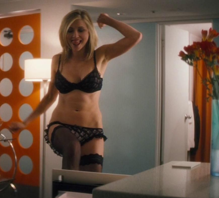 Sarah chalke likes posing in her underwear only