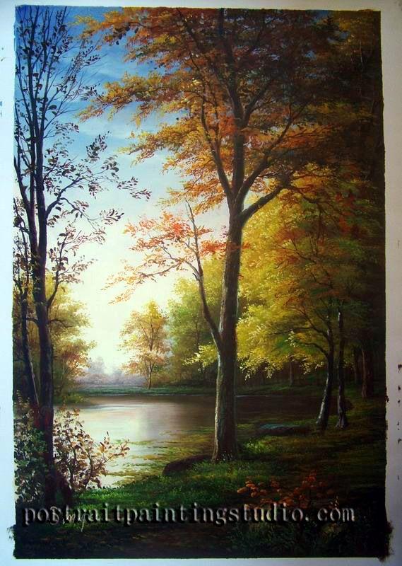 Landscape Portrait Painting | Woodlands | Pinterest | Landscaping ...