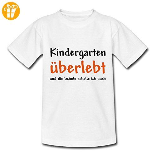 Kindergarten überlebt Schule Schaffe Ich Auch Kinder T Shirt Von