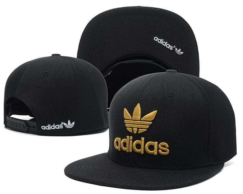 82f3b6a6 Mens Adidas Originals Thrasher Clover Logo Embroidery Front Best Quality  Retro Baseball Snapback Cap - Black / Gold
