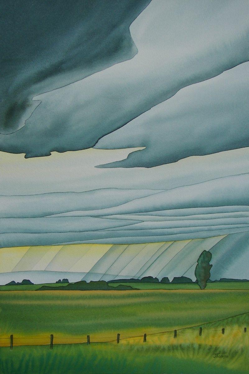 Watercolor artists names - Art Name Approaching Rain Art Genre Landscape Artist Name Thompson Joanne