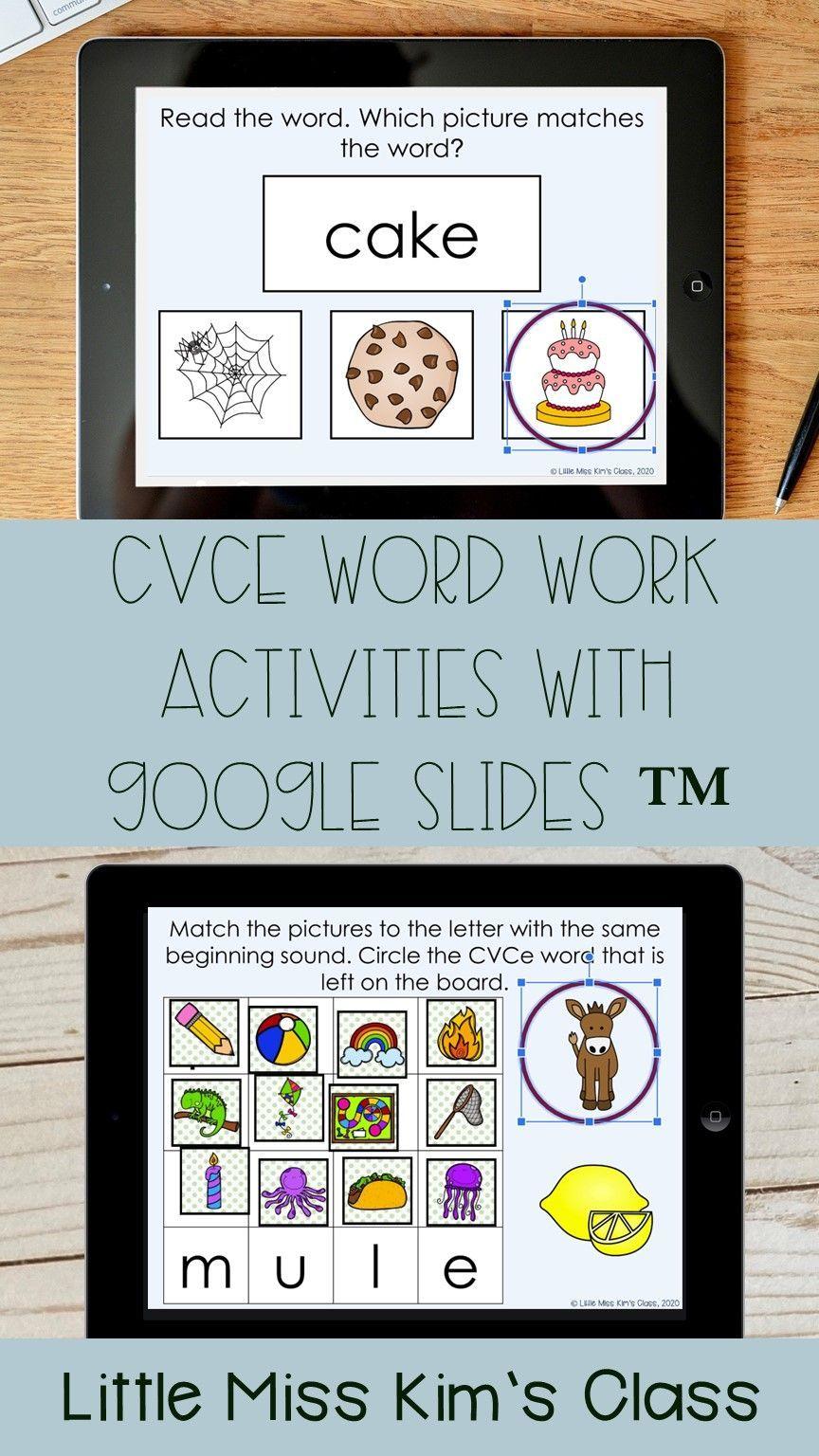 CVCe / Silent E Word Work Activities with Google Slides