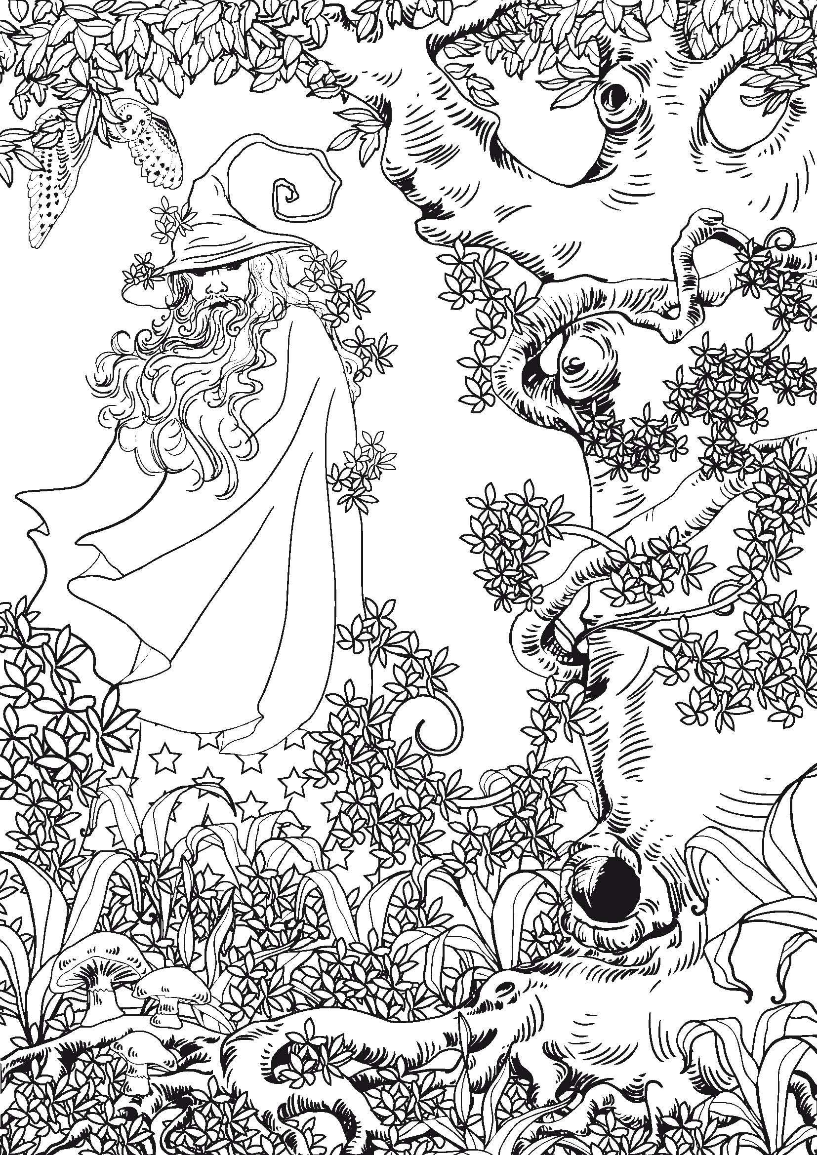 5 dessins de coloriage anti stress à imprimer  Fairy coloring