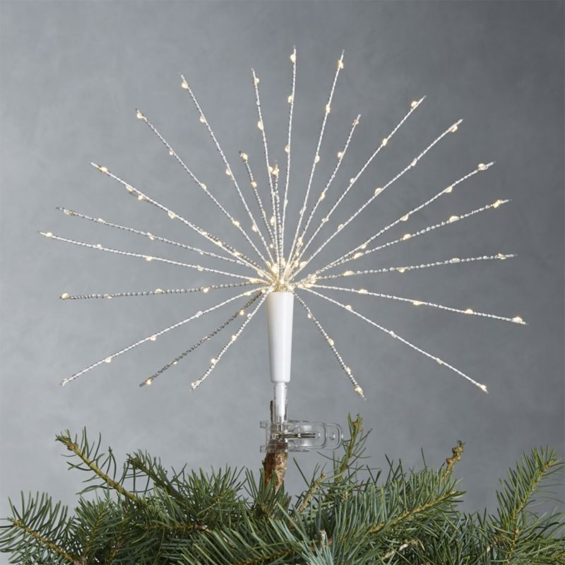 Starburst Led Tree Topper Reviews Crate And Barrel Lighted Tree Topper Tree Toppers Best Christmas Tree Decorations