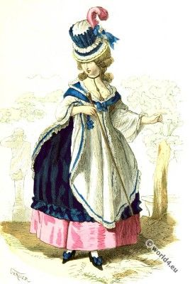 Bourgeoise woman costume in 1781.