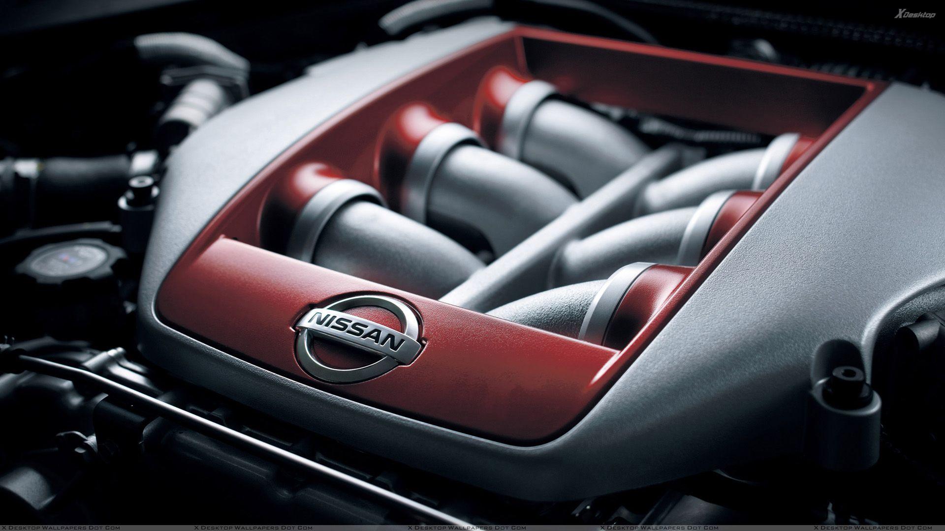 Nissan GTR Engine and Logo Wallpapers · 4K HD Desktop ...