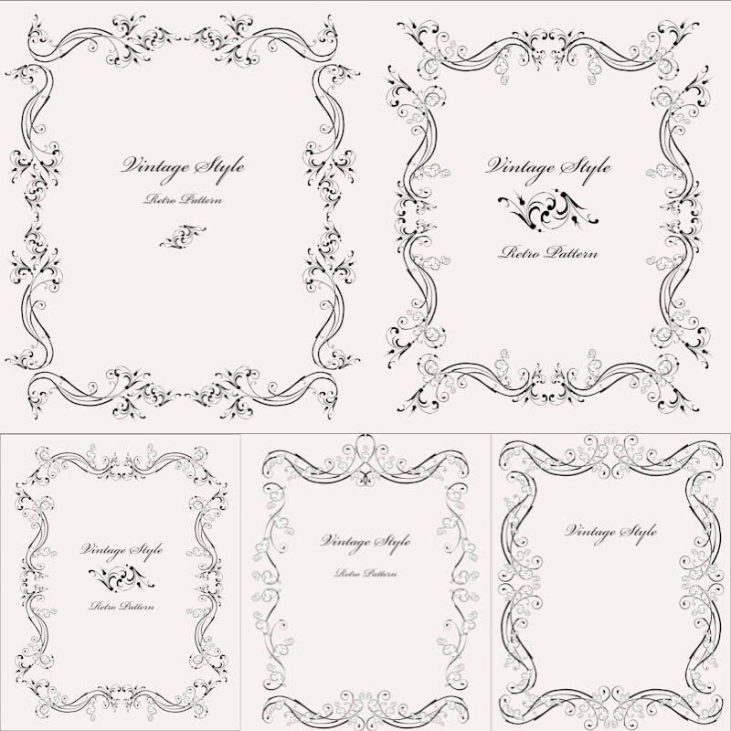 Vintage Floral Ornate Frames Vector Vintage Frames Vector Ornate Frame Free Vintage Printables