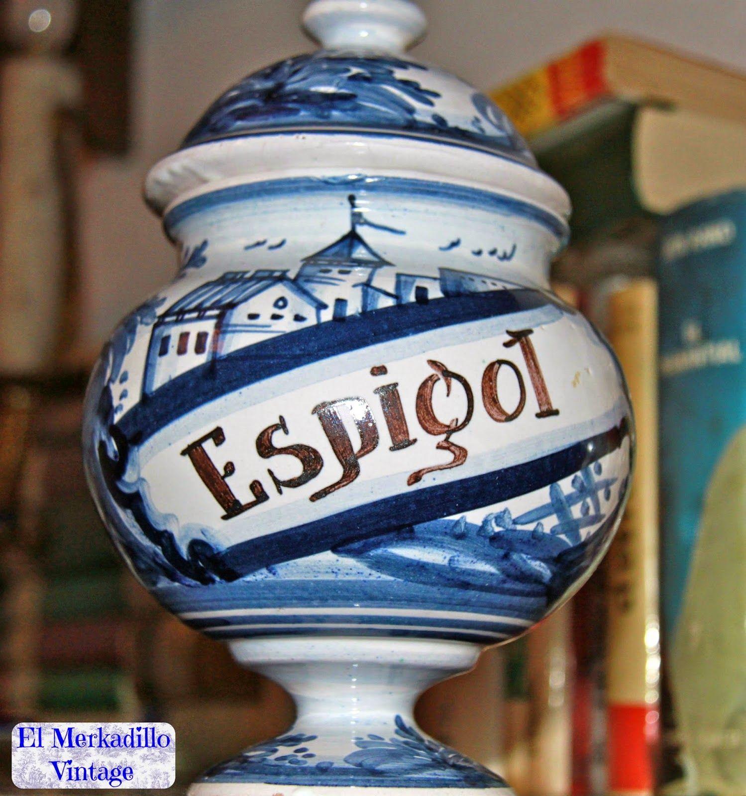 Tarro antiguo de Farmacia - Espigol (Ref. 6680)   El Merkadillo ...