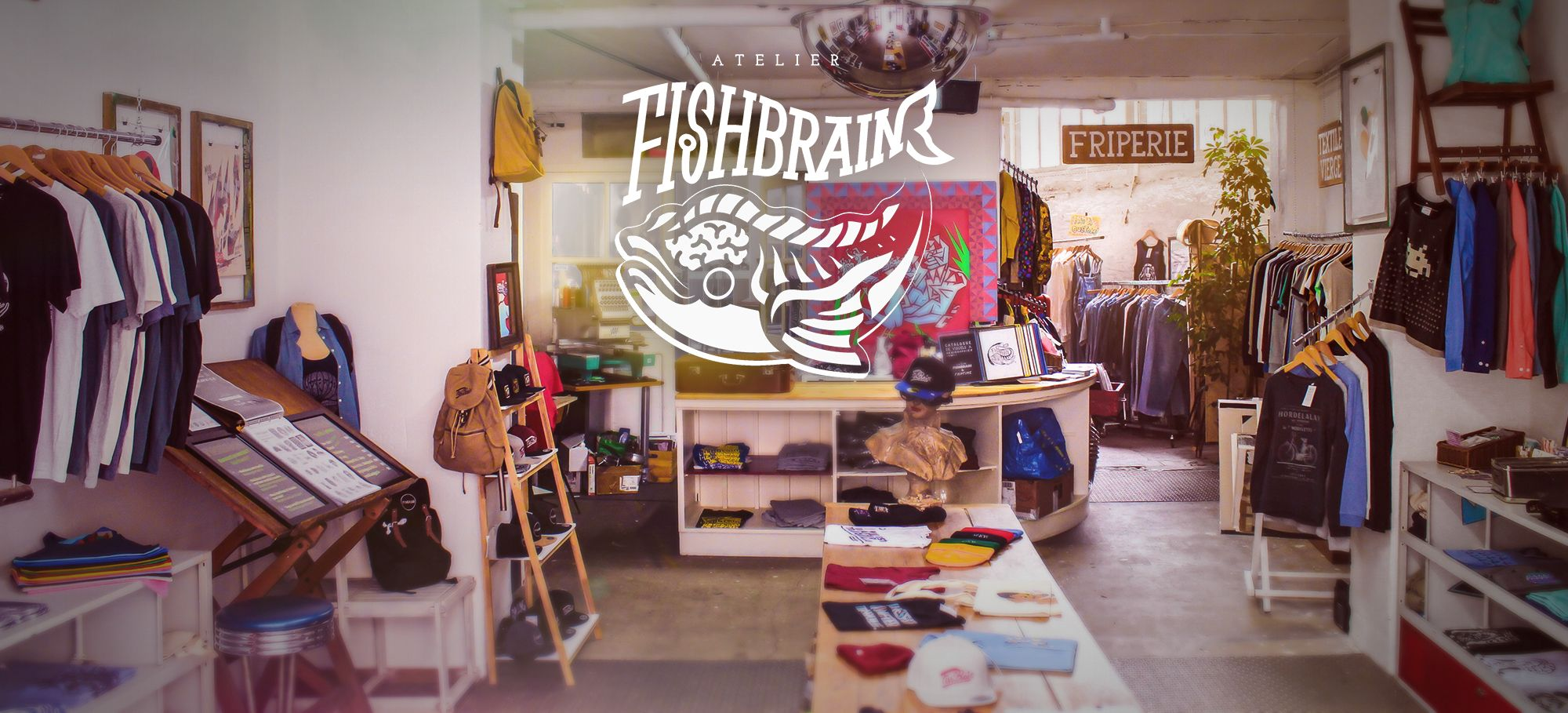 Atelier Fishbrain Impression Textile Serigraphie Broderie