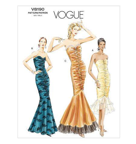 V8190, Misses\'/Misses\' Petite Dress | To Sew | Patterns | Pinterest