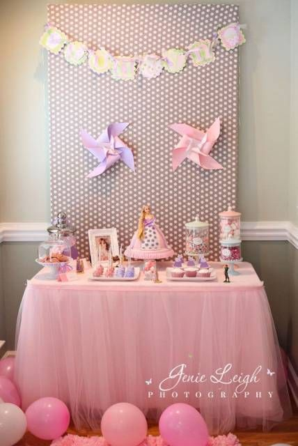 festa simples rosa e lilás
