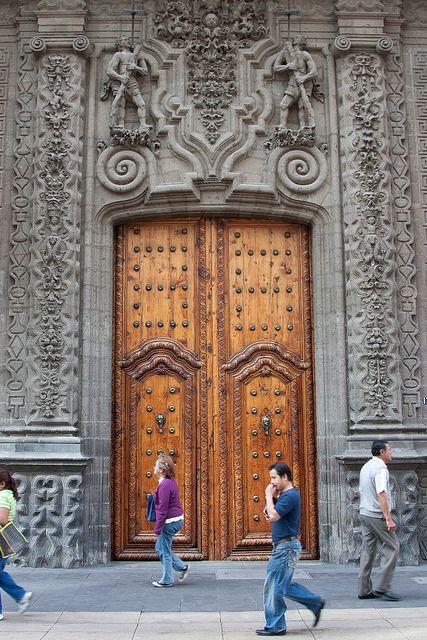 The main doors of the Palacio de Iturbide, Mexico