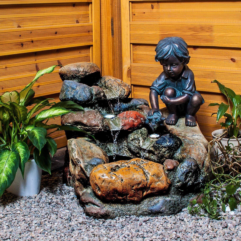 Kohko Wasserspiel Kinderspiel Mit Led Beleuchtung Gartenbrunnen Springbrunnen Brunnen Fur Aussen Und Innen Amazon De Springbrunnen Gartenbrunnen Wasserspiele