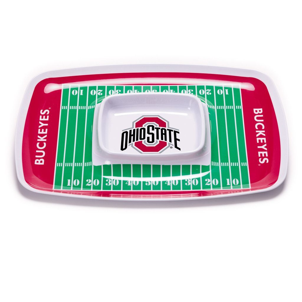 Ohio State Buckeyes Chip & Dip Serving Tray