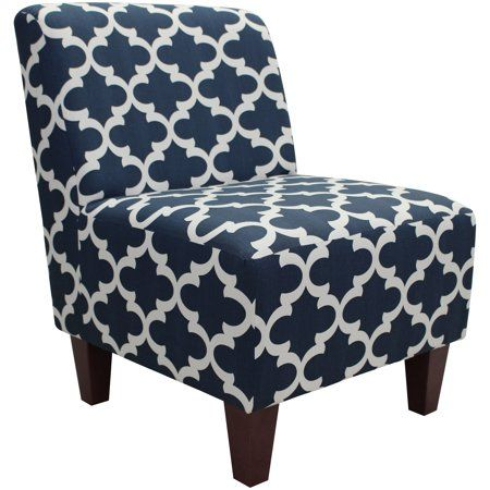 Best Mainstays Amanda Armless Accent Chair Blue In 2019 400 x 300