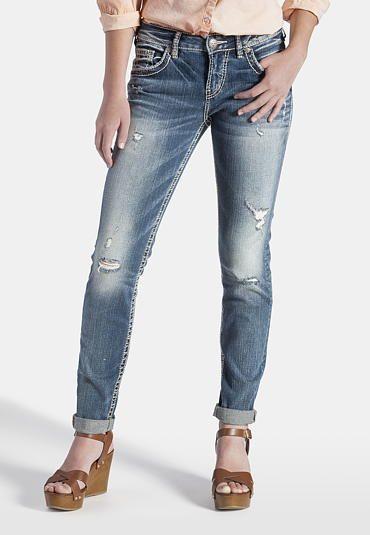 Silver jeans skinny fluid boyfriend