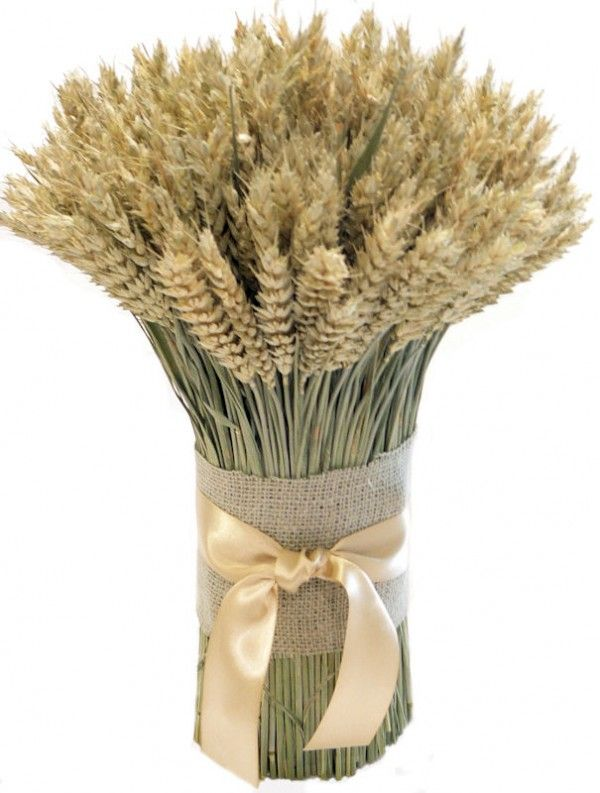 Wheat Centrepieces for a country Rustic Wedding
