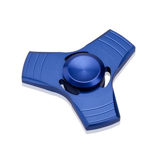 Blue Aluminum alloy Hand Finger Spinner ADHD Focus For Adults Autism