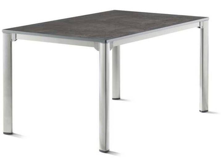 Sieger Gartentisch Aluminium Vivodur 140x90 Cm Graphit Beton