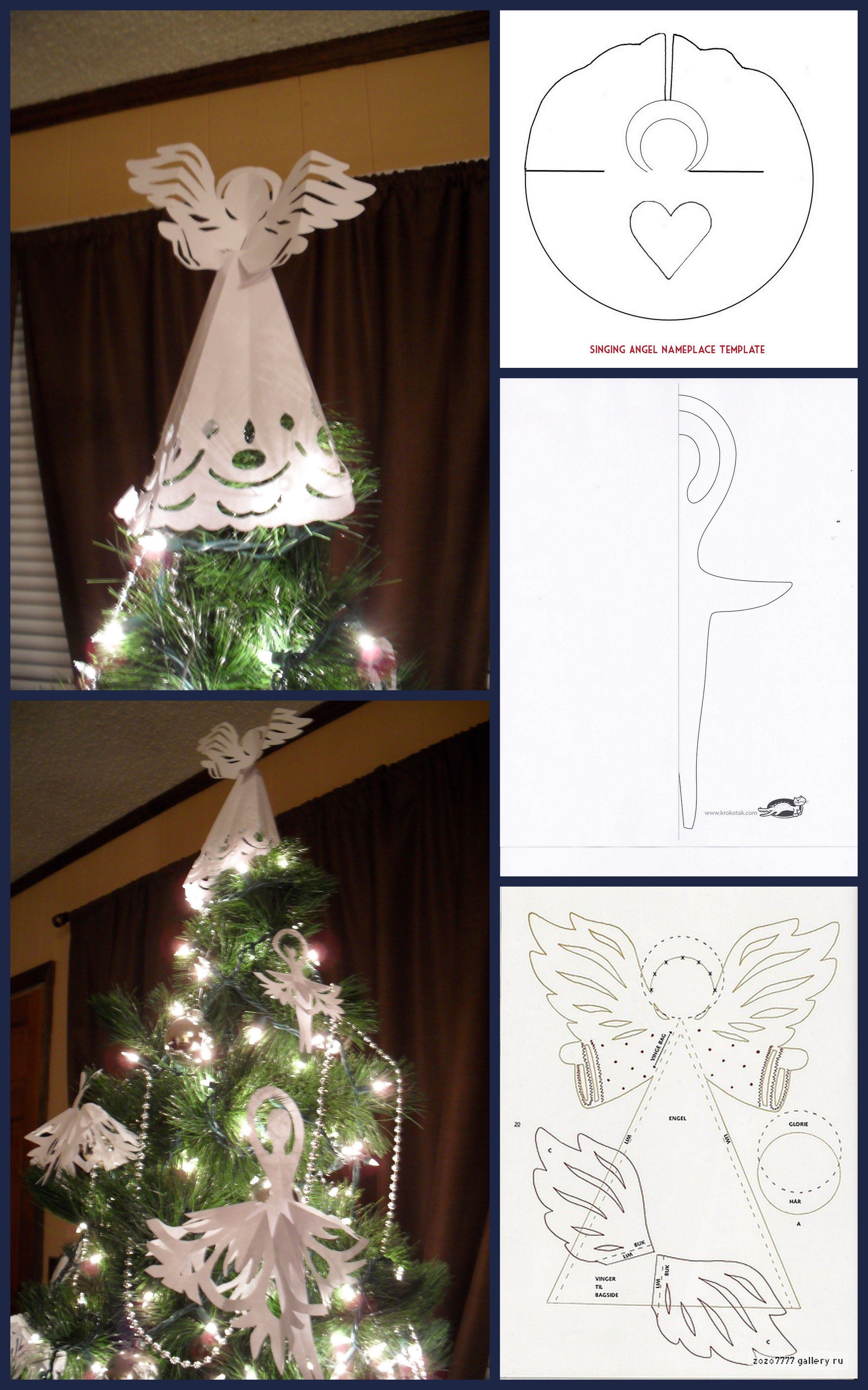 Paper Angels And Ballerinas I Made For The Christmas Tree The Templates Can Be Found A Christmas Tree Topper Modern Diy Christmas Tree Topper Christmas Angels