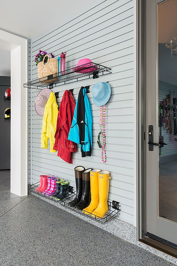 Our Pvc Slatwall Panels Help You Find More Space In Garage 5 Colours To Choose From Garage Decor Slat Wall Wall Storage