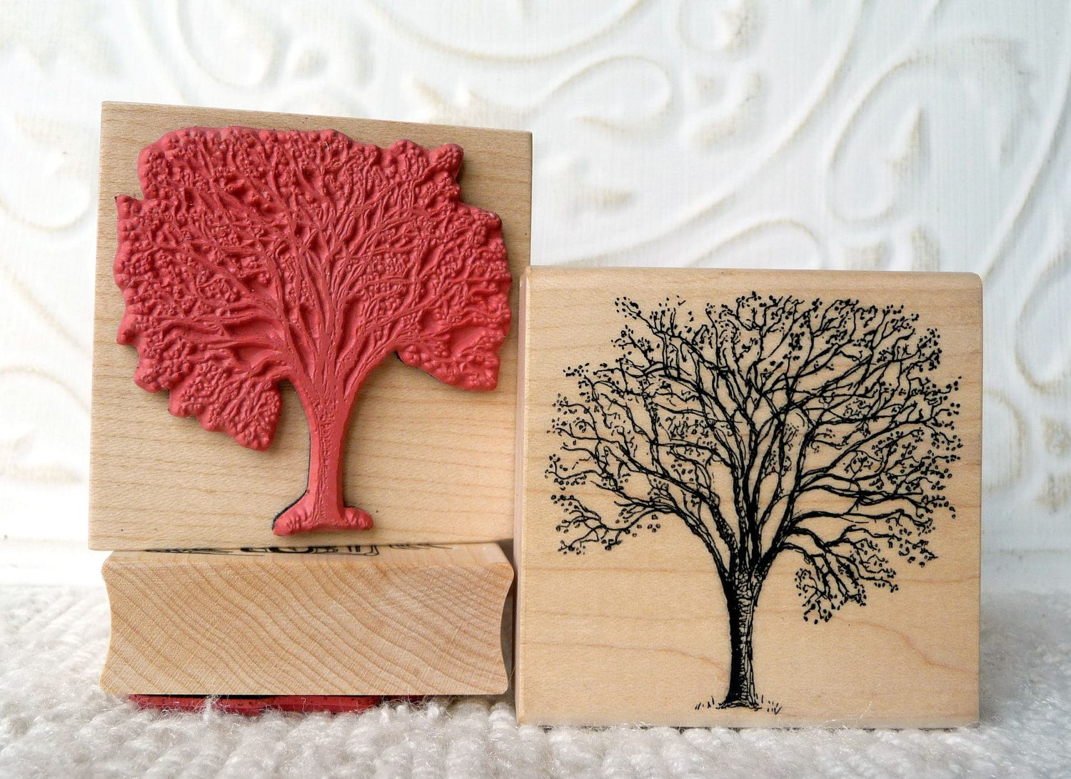 Cherry Tree rubber stamp from oldislandstamps. $12.75, via Etsy ...
