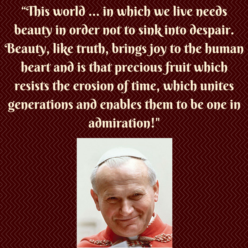Pope Saint John Paul Ll Quoting The Vatican Ll Council Fathers In