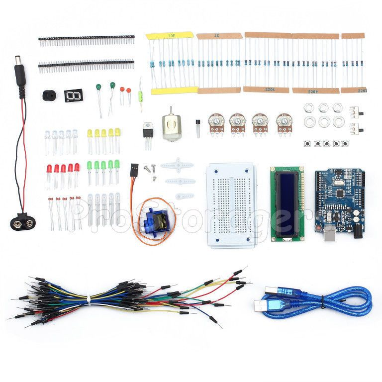 New Starter Kit For For Uno R3 Stepper Motor Resistor Led Breadboard Jumper Wire For Uno R3 For Raspberry Pi 3 Demo Board & Accessories
