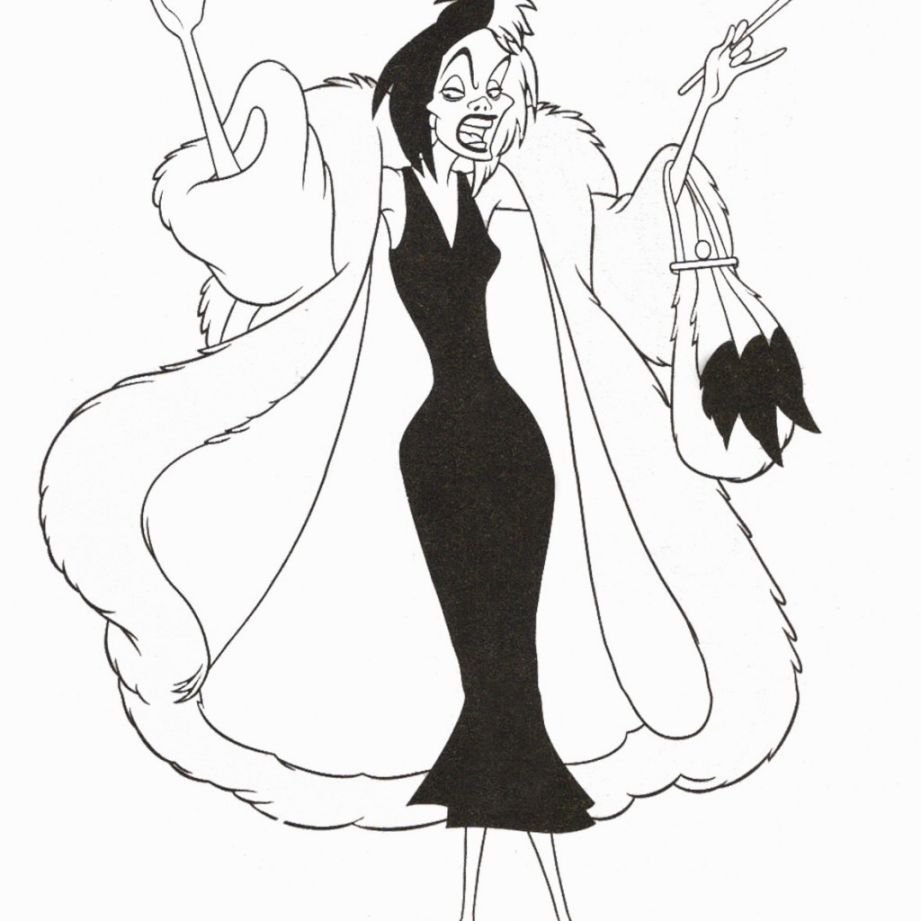 disney villain coloring pages - Disney Villain Coloring Pages