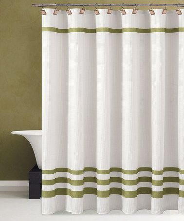 Take A Look At This White Green Bleecker Shower Curtain By Duck