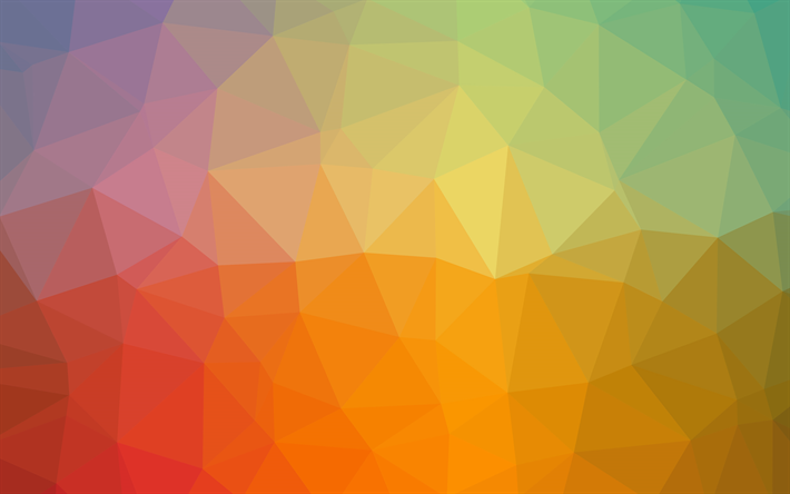 Download Wallpapers Polygon Abstraction Geometric Shapes Rainbow Colorful Abstraction 4k Besthqwallpapers Com Fondo De Pantalla De Arco Iris Papel Tapiz Abstracto Abstracto