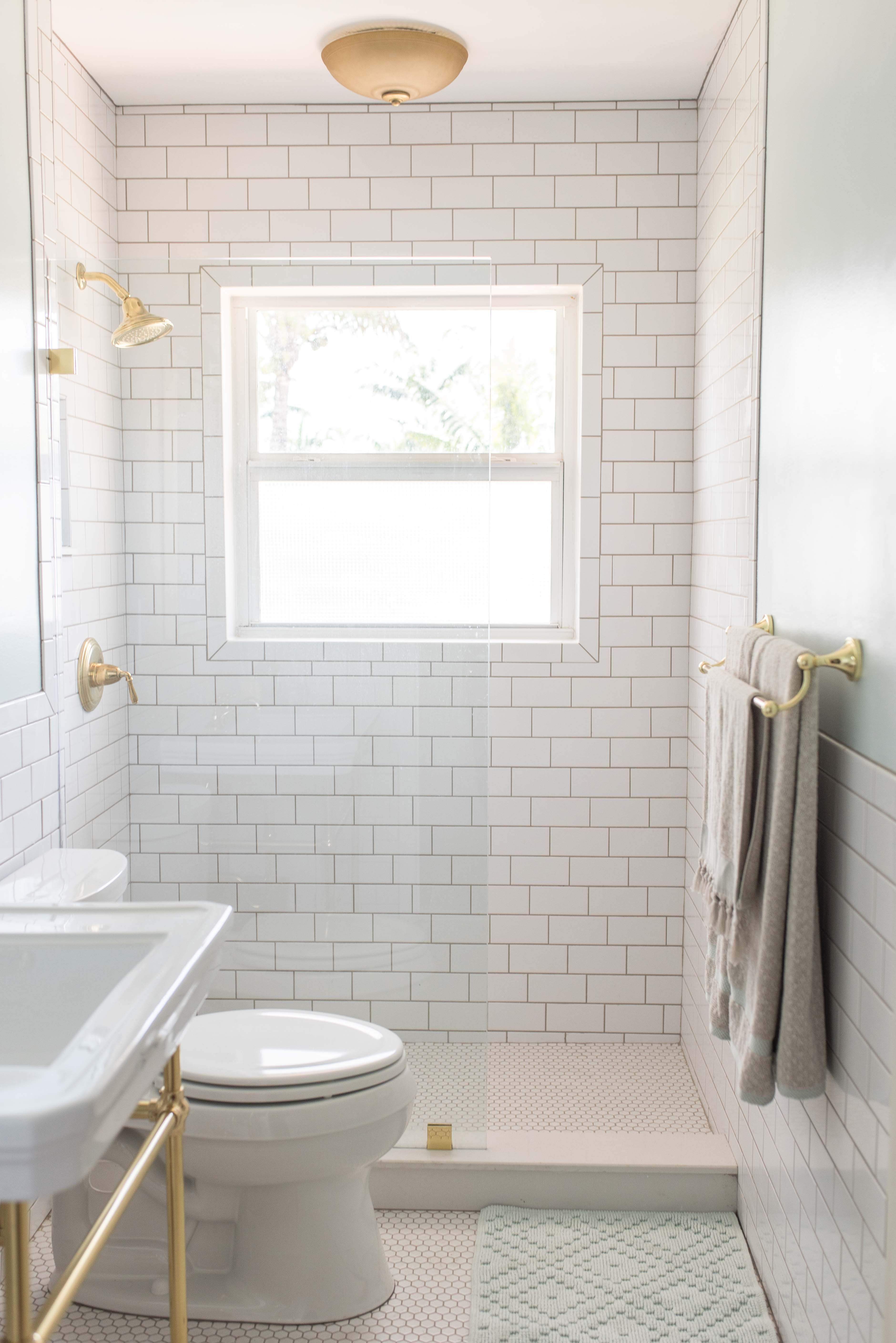 AFTER | Modern/Retro bathroom remodel with classic white subway ...