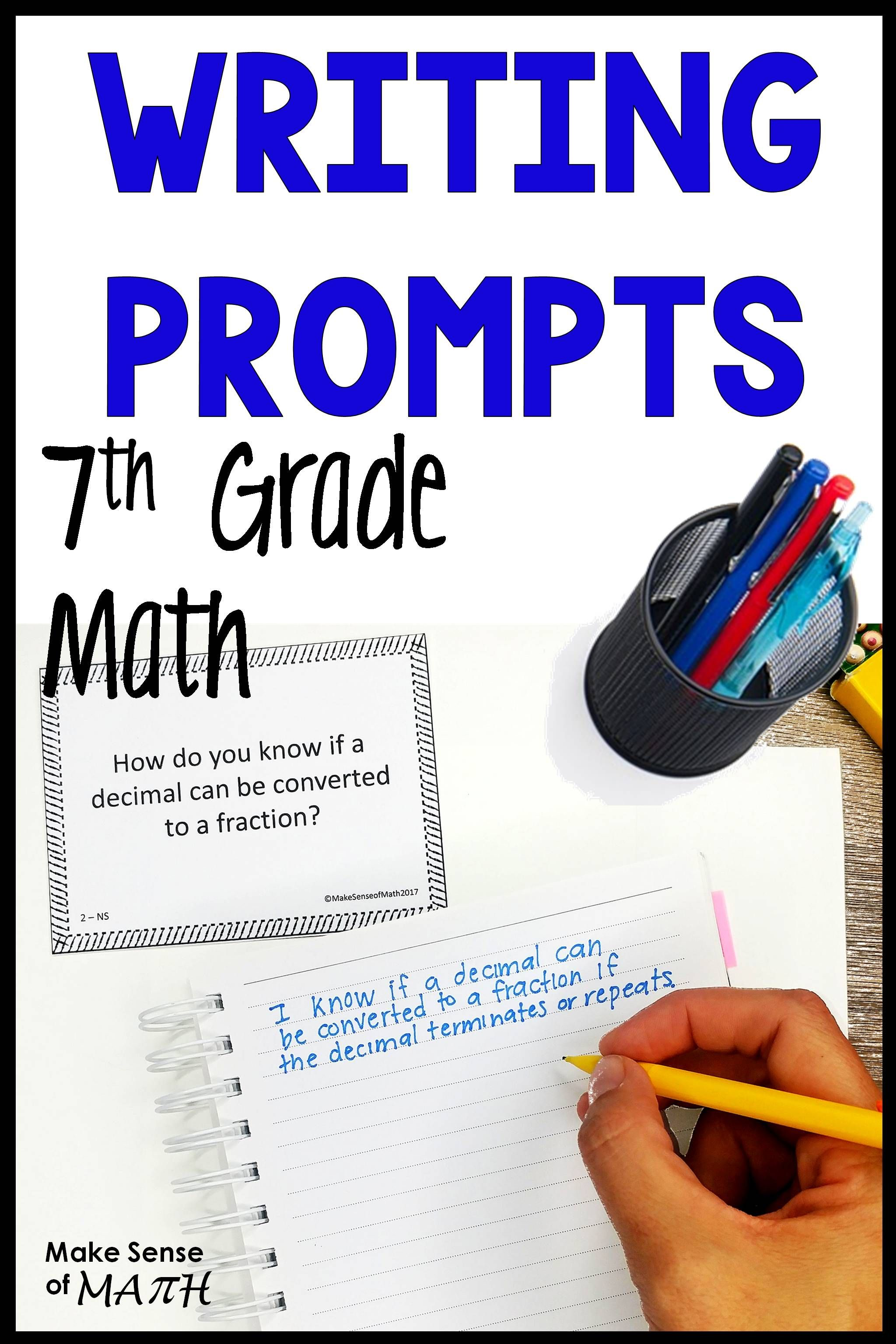 7th Grade Math Writing Prompts